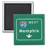 Memphis, señal de tráfico del TN Imán
