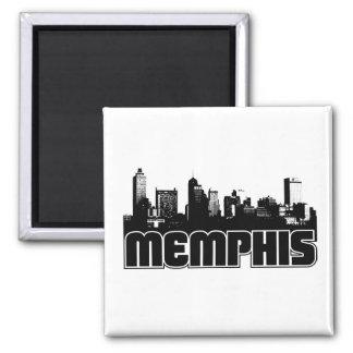 Memphis Skyline 2 Inch Square Magnet