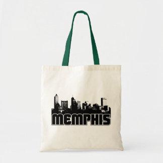 Memphis Skyline Canvas Bags