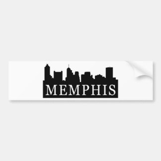 Memphis Skyline Bumper Sticker