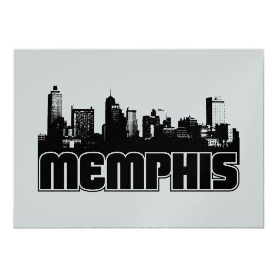 Memphis Skyline Card