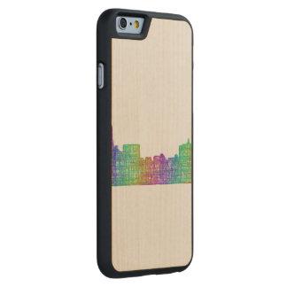 Memphis skyline carved® maple iPhone 6 case