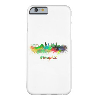Memphis skyline in watercolor barely there iPhone 6 case