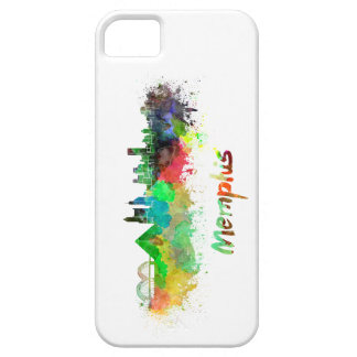 Memphis skyline in watercolor iPhone SE/5/5s case