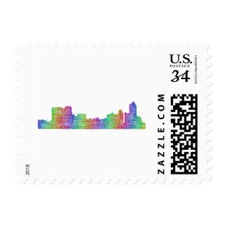 Memphis skyline postage
