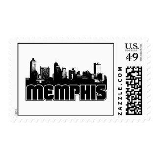 Memphis Skyline Postage Stamp