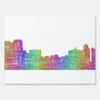 Memphis skyline sign