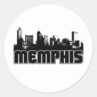 Memphis Skyline Round Sticker