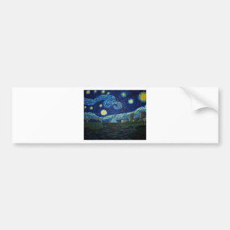 """Memphis Starry Night"" by Jack Lepper Bumper Sticker"