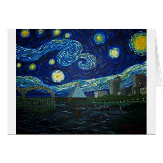 """""""Memphis Starry Night"""" by Jack Lepper Card"""