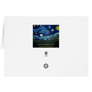 Memphis Starry Night by Jack Lepper Greeting Card