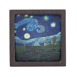 """Memphis Starry Night"" by Jack Lepper Jewelry Box"