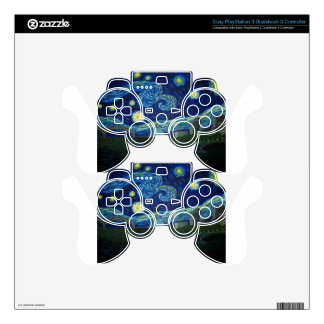 """""""Memphis Starry Night"""" by Jack Lepper PS3 Controller Skins"""