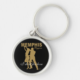Memphis Steppers gold silhouette Keychain