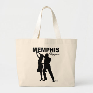 Memphis Steppers Tote Bag black silhouette