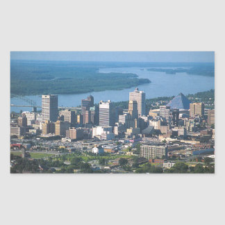 memphis rectangular sticker