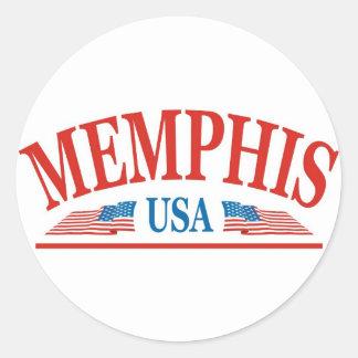 Memphis Round Stickers
