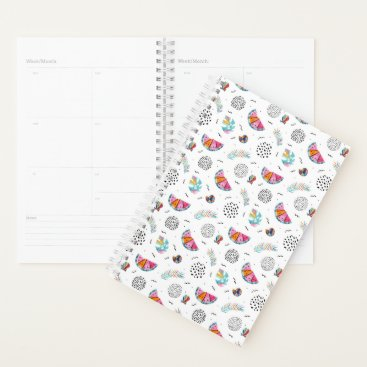 Hawaiian Themed Memphis Style Tropical Summer Pattern Planner