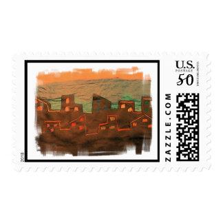 Memphis Sunrise Postage Stamp