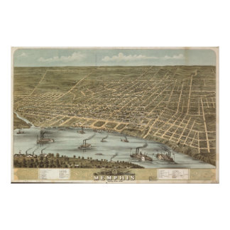Memphis, Tennessee 1870 Poster