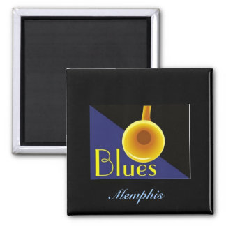 Memphis Tennessee 2 Inch Square Magnet