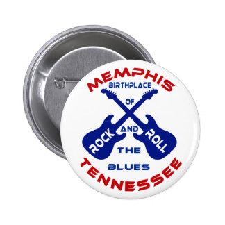 Memphis, Tennessee Pinback Buttons