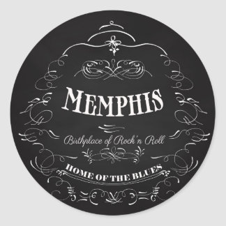 Memphis, Tennessee - City with Soul Classic Round Sticker