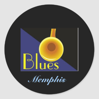 Memphis Tennessee Classic Round Sticker