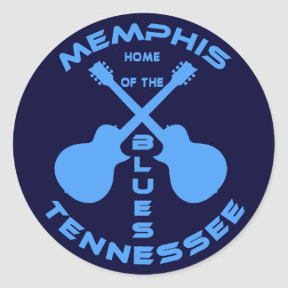 Memphis, Tennessee Home of the Blues Classic Round Sticker