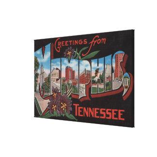 Memphis, Tennessee - Large Letter Scenes 3 Canvas Print