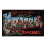 Memphis, Tennessee - Large Letter Scenes 3 Poster