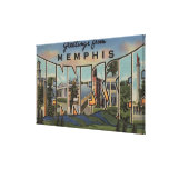 Memphis, Tennessee - Large Letter Scenes Canvas Print