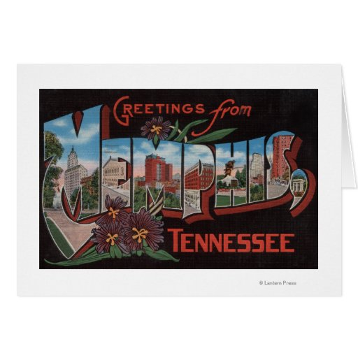 Memphis, Tennessee - Large Letter Scenes Card