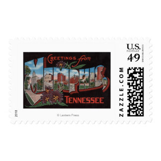 Memphis, Tennessee - Large Letter Scenes Postage