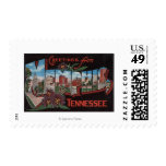Memphis, Tennessee - Large Letter Scenes Postage Stamp