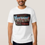 Memphis, Tennessee - Large Letter Scenes Tee Shirt