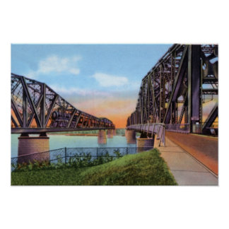 Memphis Tennessee Mississippi River Bridges Posters