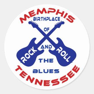 Memphis, Tennessee Pegatina Redonda