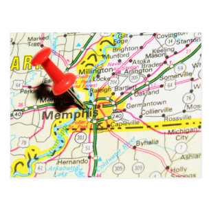 Memphis Michigan Map.Map Of Memphis Postcards Zazzle