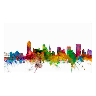 Memphis Tennessee Skyline Pack Of Standard Business Cards