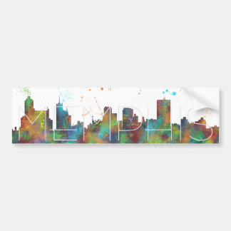 MEMPHIS, TENNESSEE SKYLINE - Car Bumper Sticker