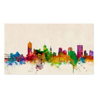 Memphis Tennessee Skyline Cityscape Pack Of Standard Business Cards