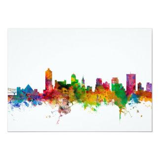 Memphis Tennessee Skyline 13 Cm X 18 Cm Invitation Card