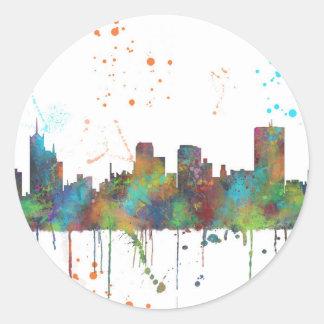 MEMPHIS, TENNESSEE SKYLINE - Round Sticker