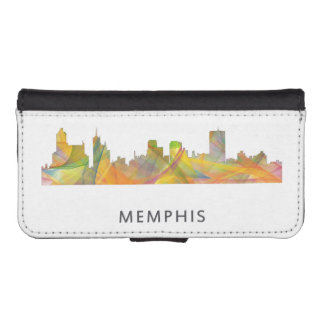 MEMPHIS, TENNESSEE SKYLINE WB1 - WALLET PHONE CASE FOR iPhone SE/5/5s