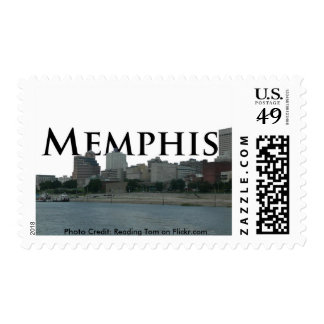 Memphis Tennessee Skyline with Memphis in the Sky Stamp