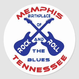 Memphis, Tennessee Round Stickers