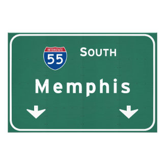 Memphis Tennessee tn Interstate Highway Freeway : Photo Print