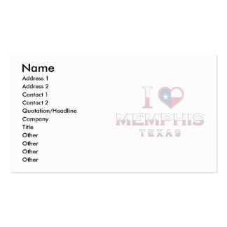 Memphis, Texas Double-Sided Standard Business Cards (Pack Of 100)