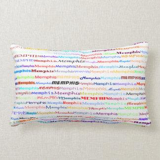 Memphis Text Design II Lumbar Pillow
